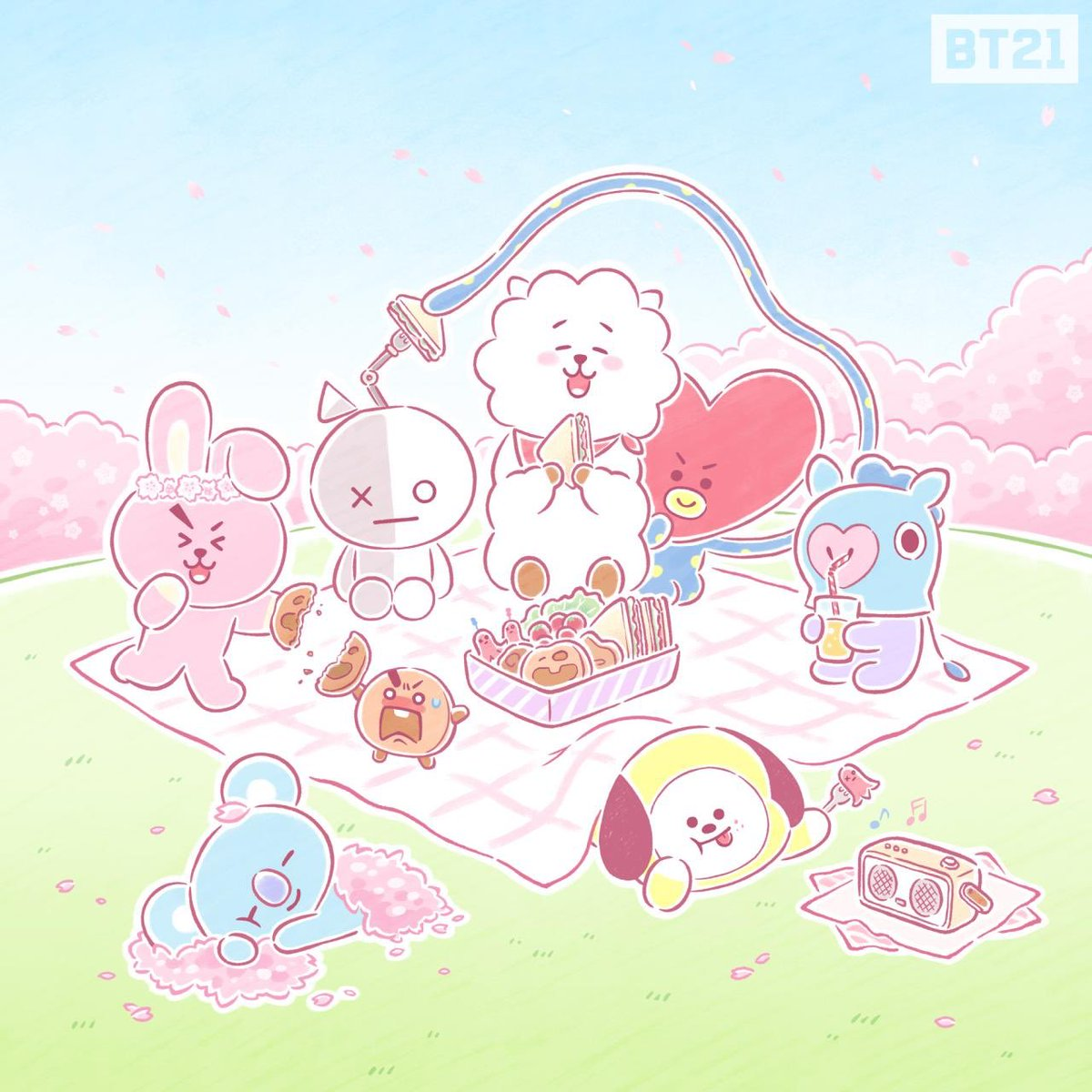 Bts Bt21 Computer Wallpaper Desktop