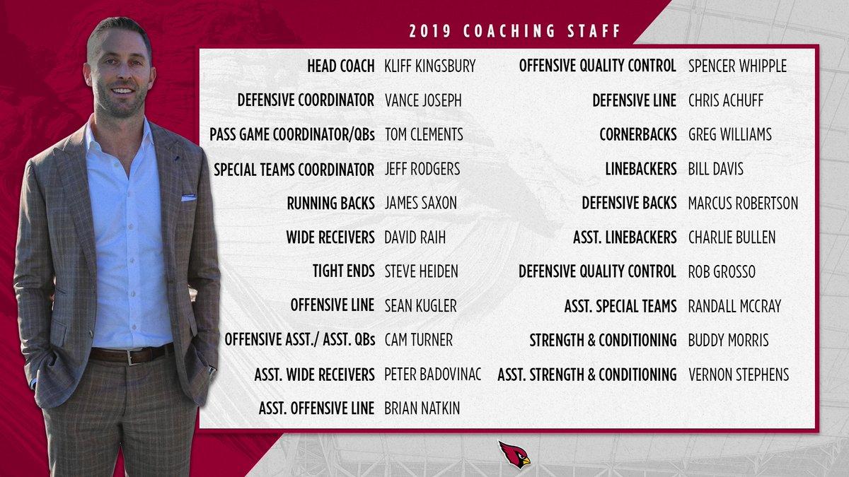 "Arizona Cardinals on Twitter: ""Meet the 2019 coaching ..."