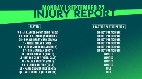 philadelphia eagles injury report # 0