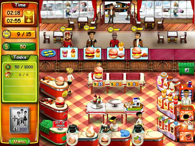 Barbie Burger Restaurant 4 Games