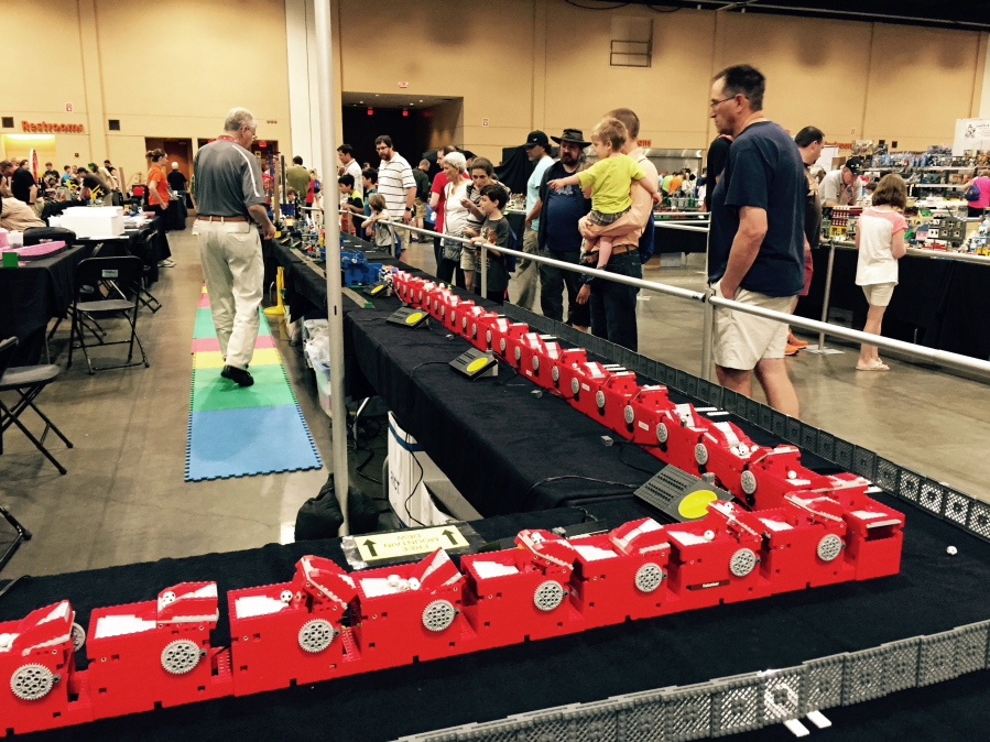 Lego obsessed to descend on convention   The Columbian This June 2017 photo taken at Brickworld Chicago in Schaumburg  Ill   shows  part