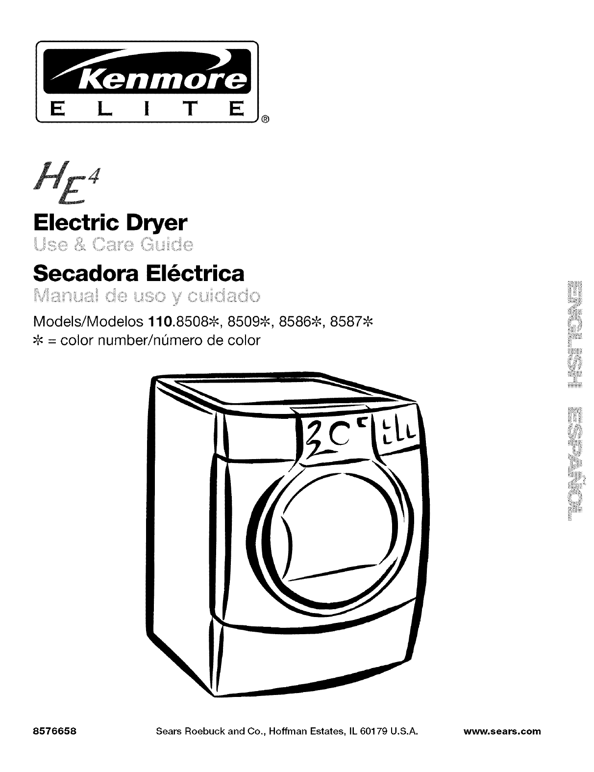 Kenmore clothes dryer 110 8508 user guide manualsonline