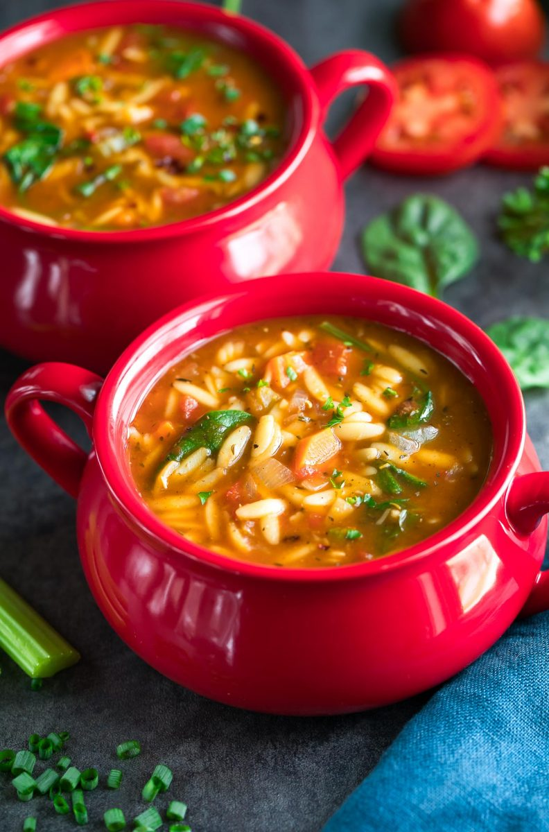 One Pot Orzo Vegetable Soup Peas And Crayons