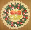 Панно «Рождественский венок праздничный» из нетрадиционных материалов в технике оригами. Мастер-класс с пошаговыми фотографиями