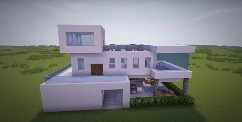 Строим небольшой дом Hi-Tech в Майнкрафте