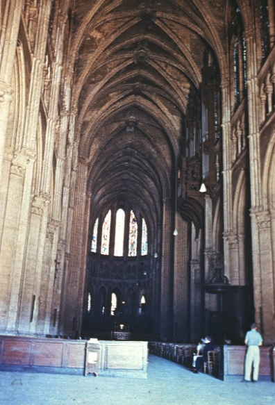 Chartres Cathedral Interior And Exterior