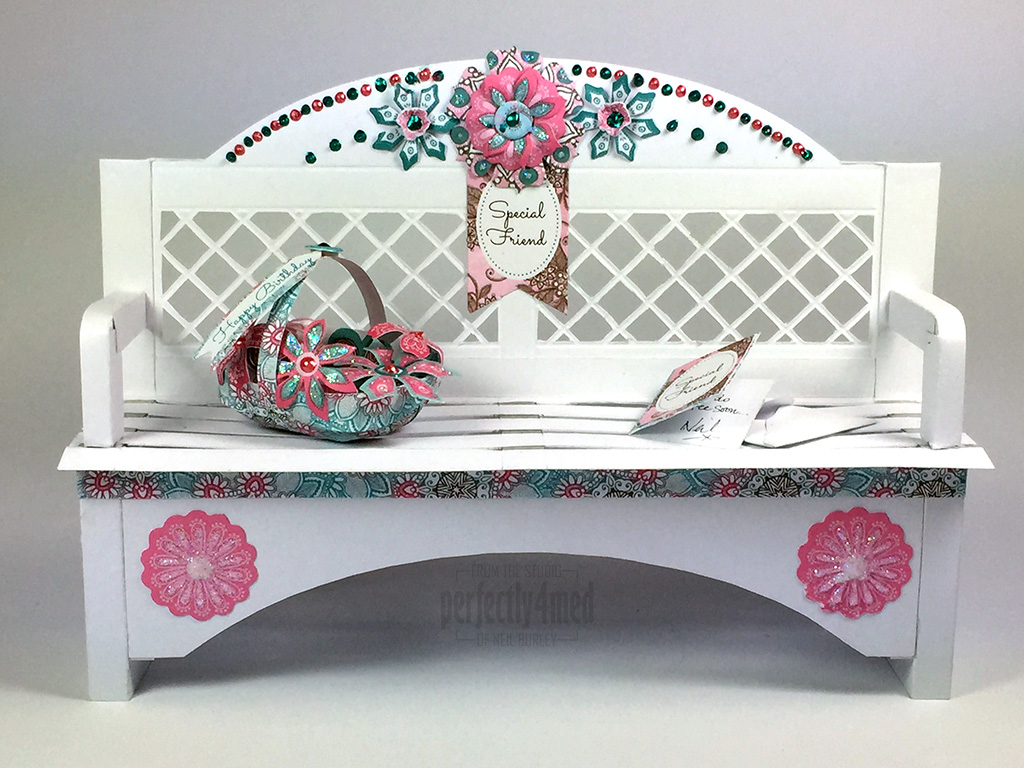 Papercraft Garden Bench With Craftwork Cards