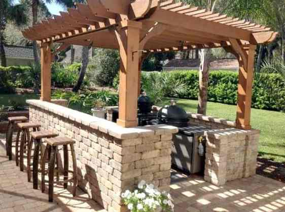 Outdoor Kitchen Pergola Ideas   Pergolas for Your Outdoor Kitchen     Outdoor Kitchen Pergola Ideas