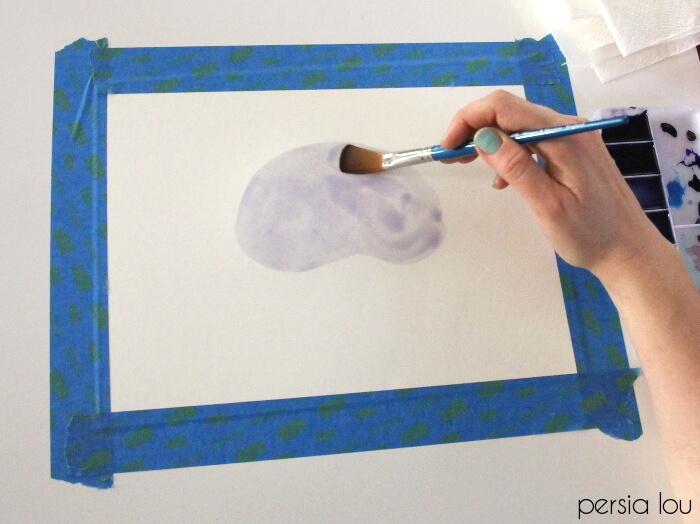 Follow this step-by-step tutorial to make your own watercolor agate slice paintings!