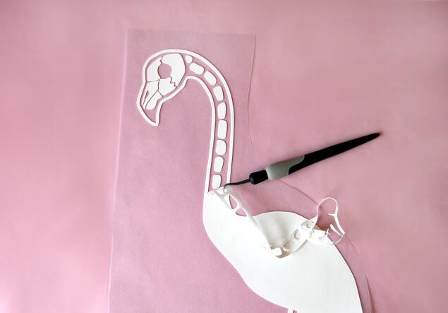 flamingo skeleton graphic