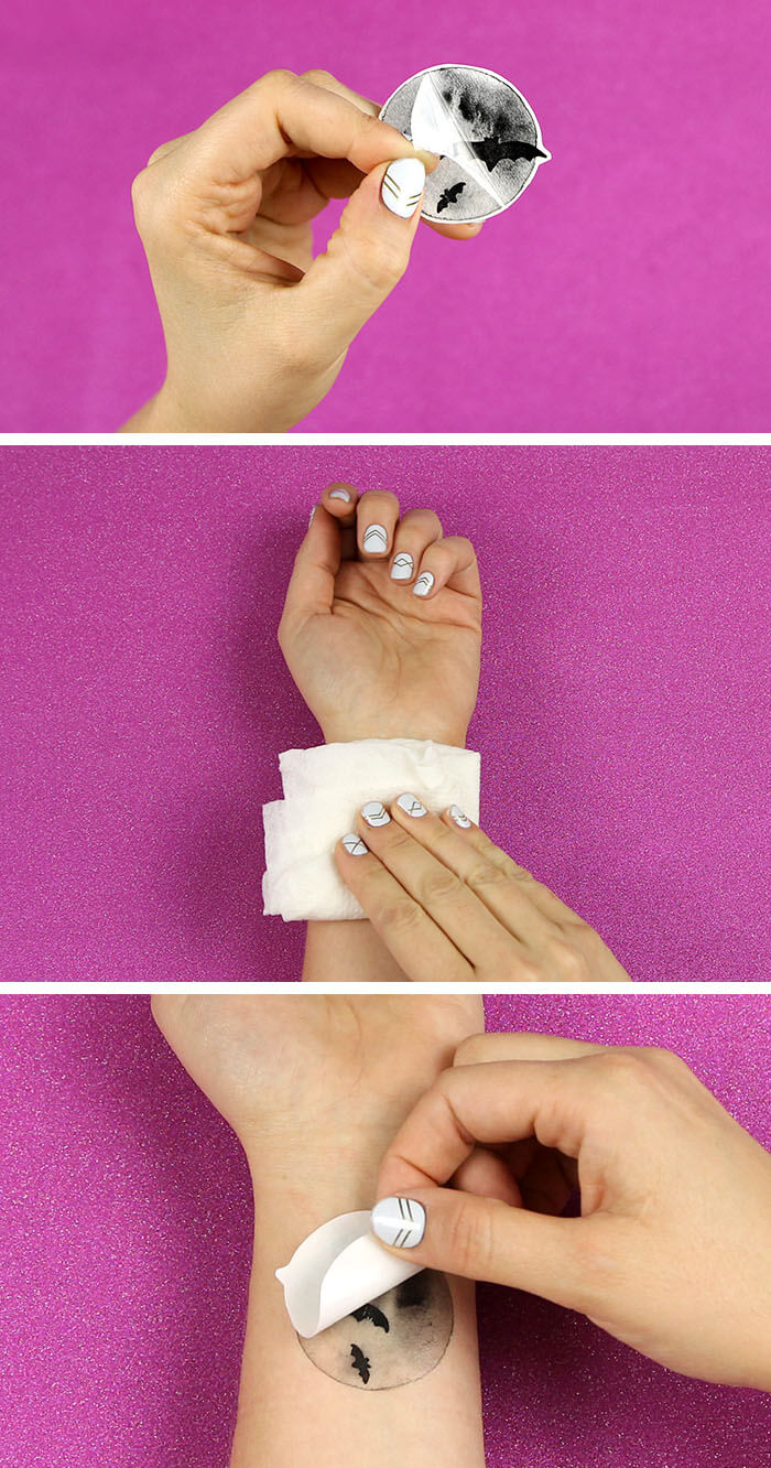 make your own watercolor temporary tattoos - free printable designs from www.persialou.com