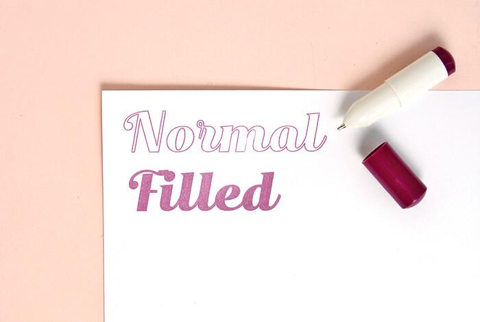 normal vs filled2