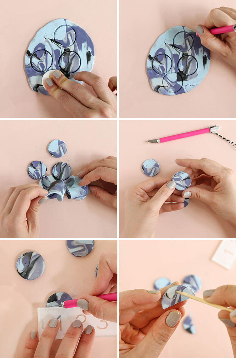 diy necklace - step two: cut circles