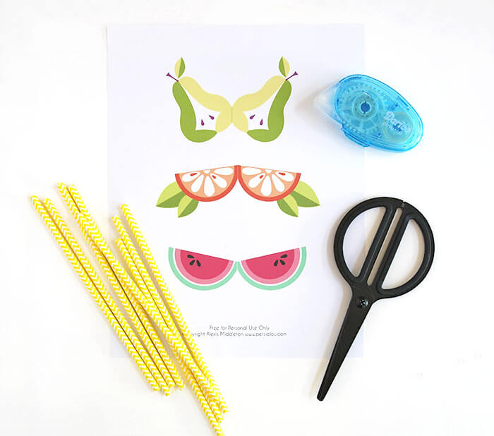DIY Fruit Straws supplies