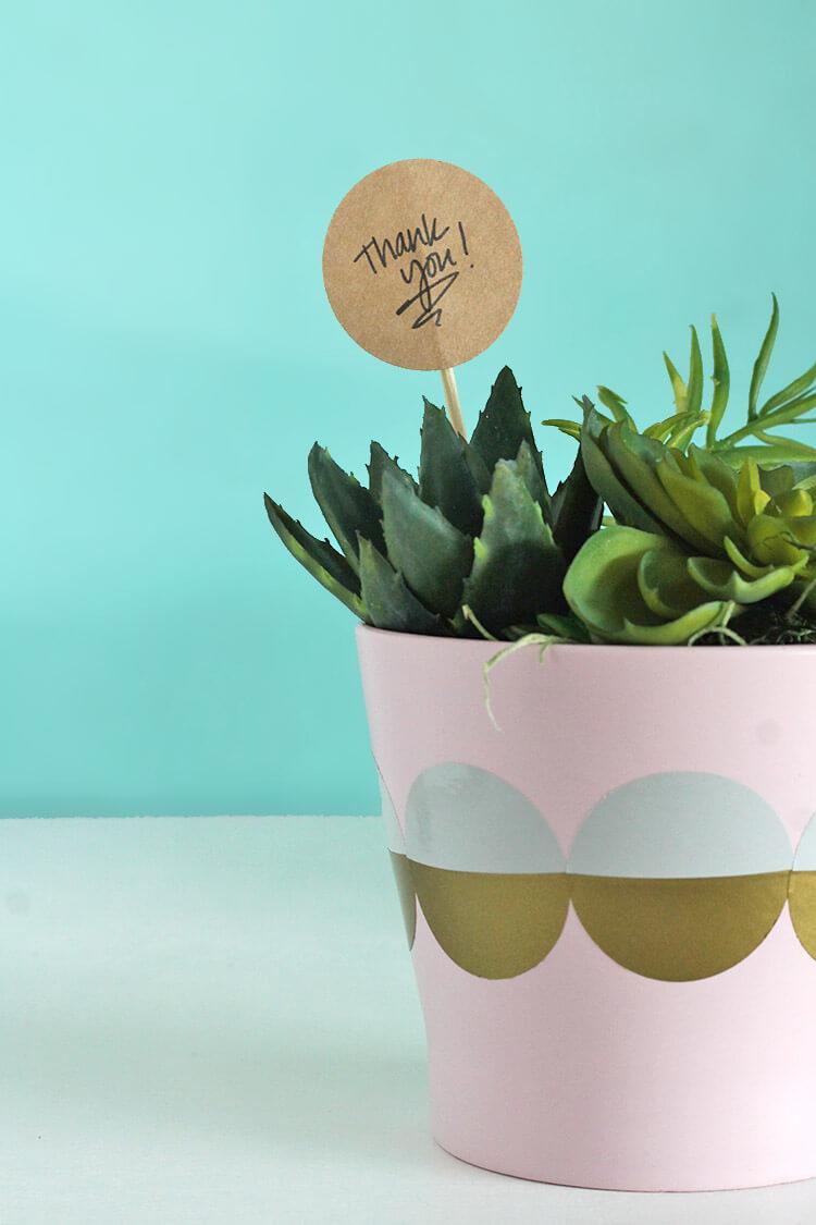 Super simple thank you / hostess gift idea - Easy diy modern planter