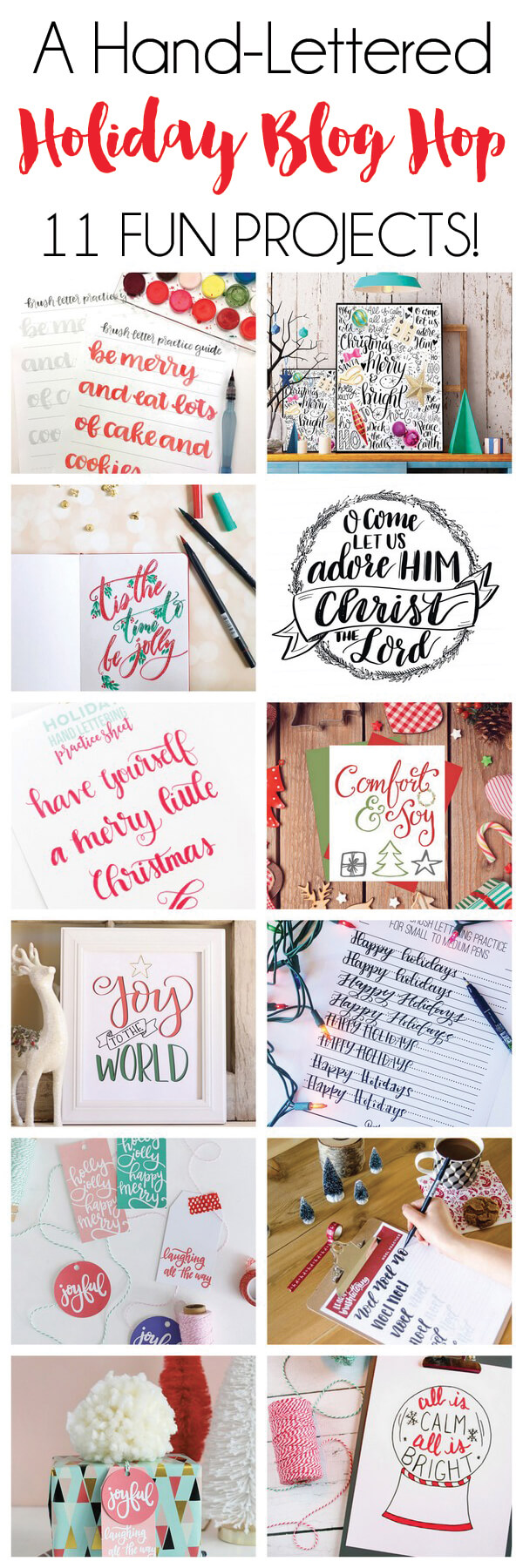 hand lettered holiday projects