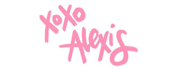 signature reading xoxo alexis