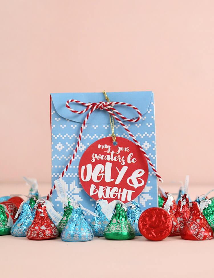 Free Printable Christmas Sweater Treat Box