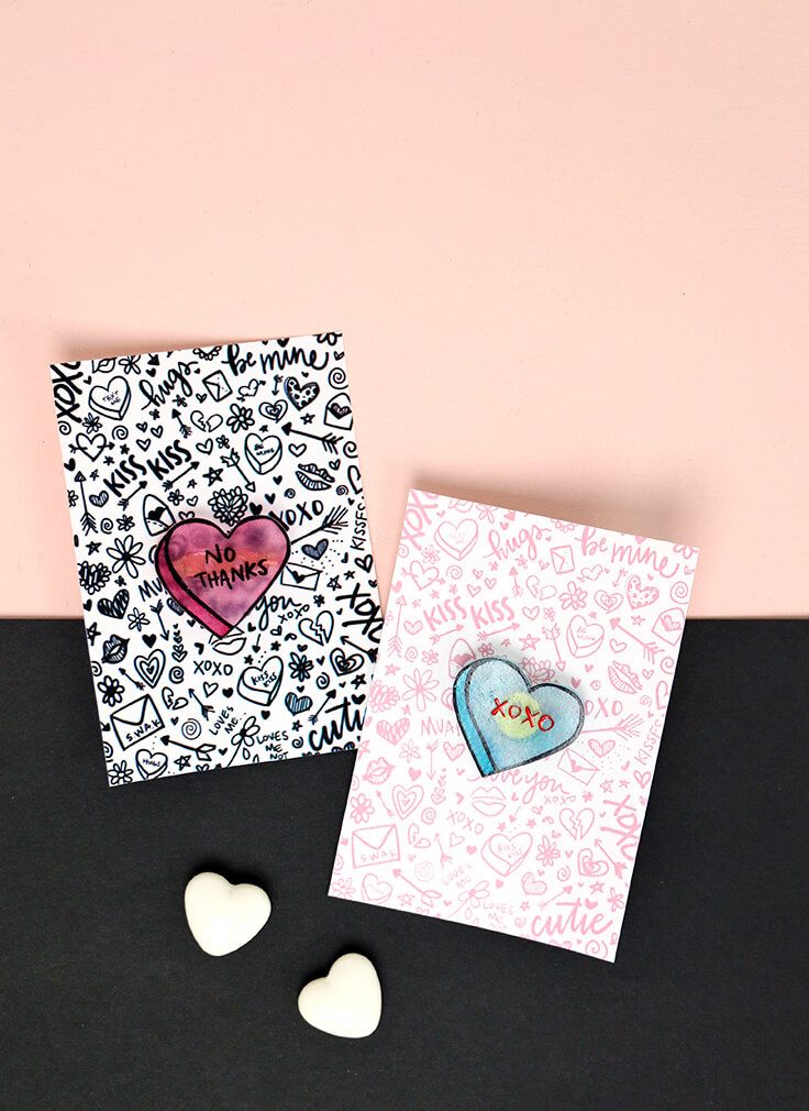 how to make pins - cute conversation heart style valentine's pins!