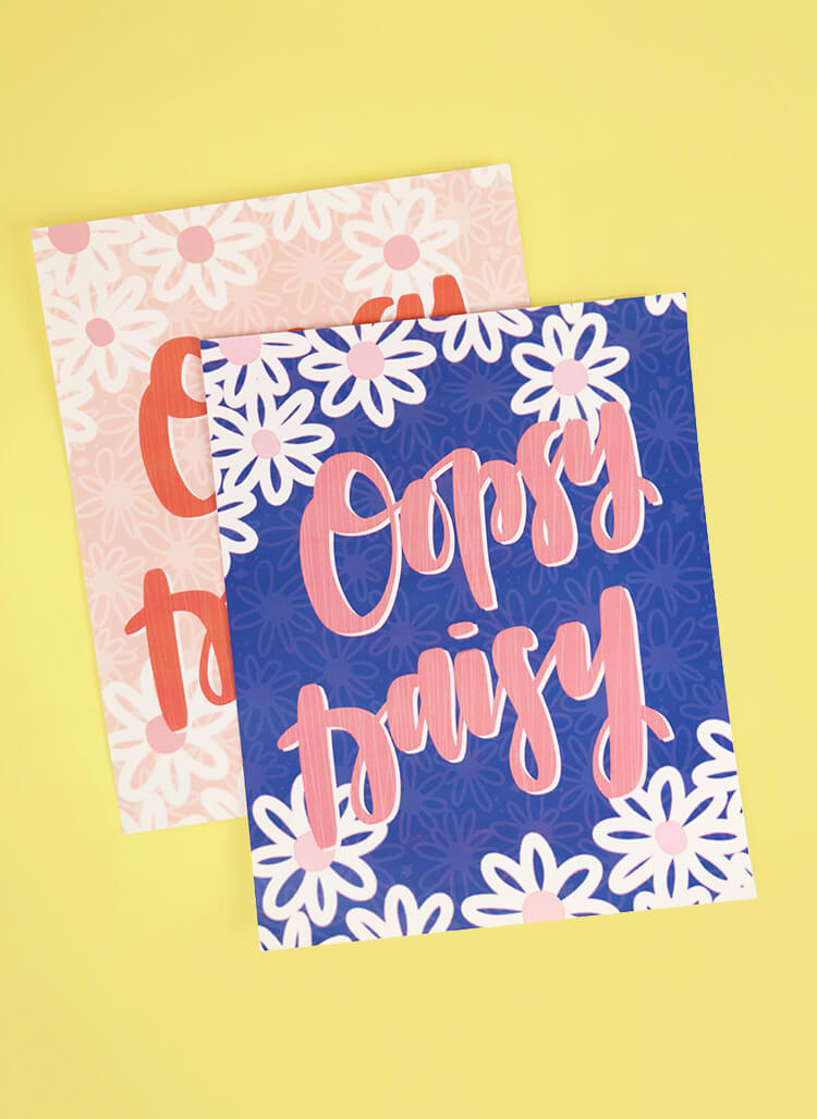 free hand lettered spring printables - oopsy daisy