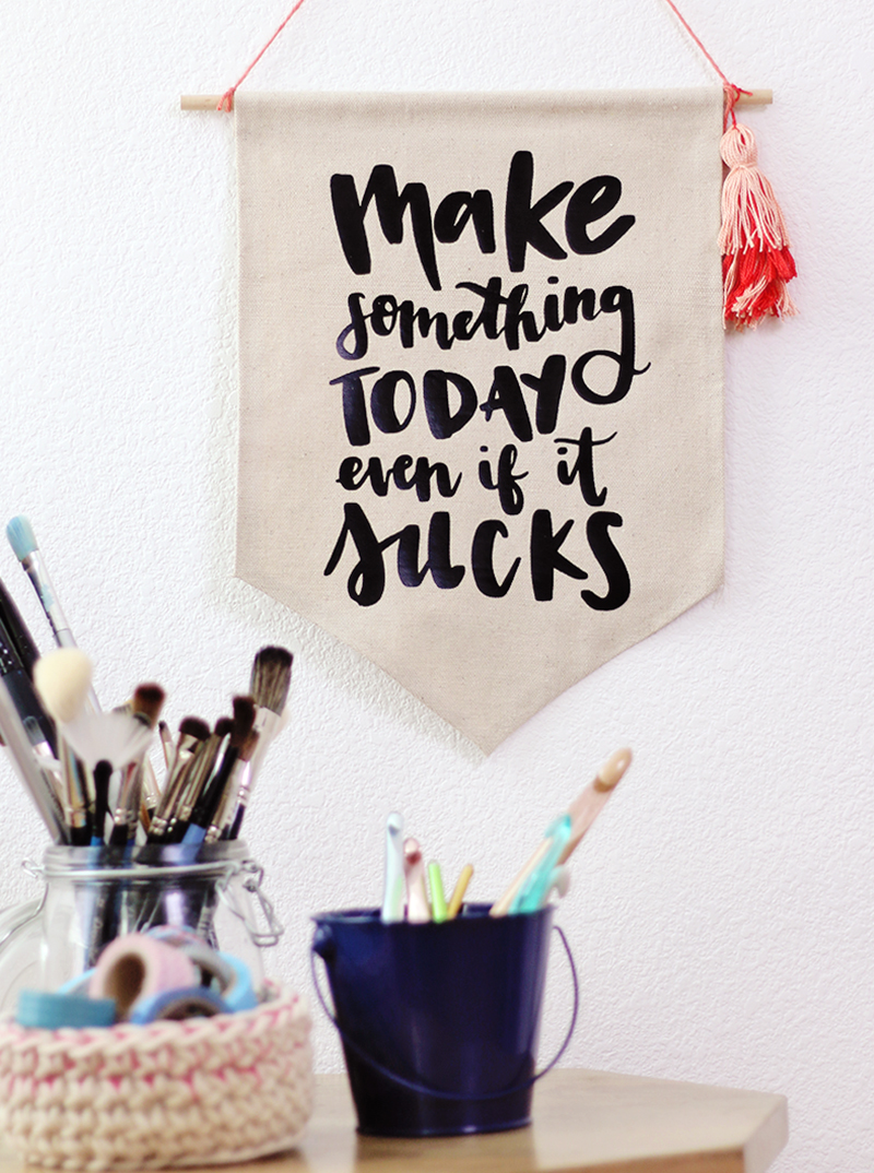 """""""make something today even if it sucks"""" free cut file for silhouette or cricut"""
