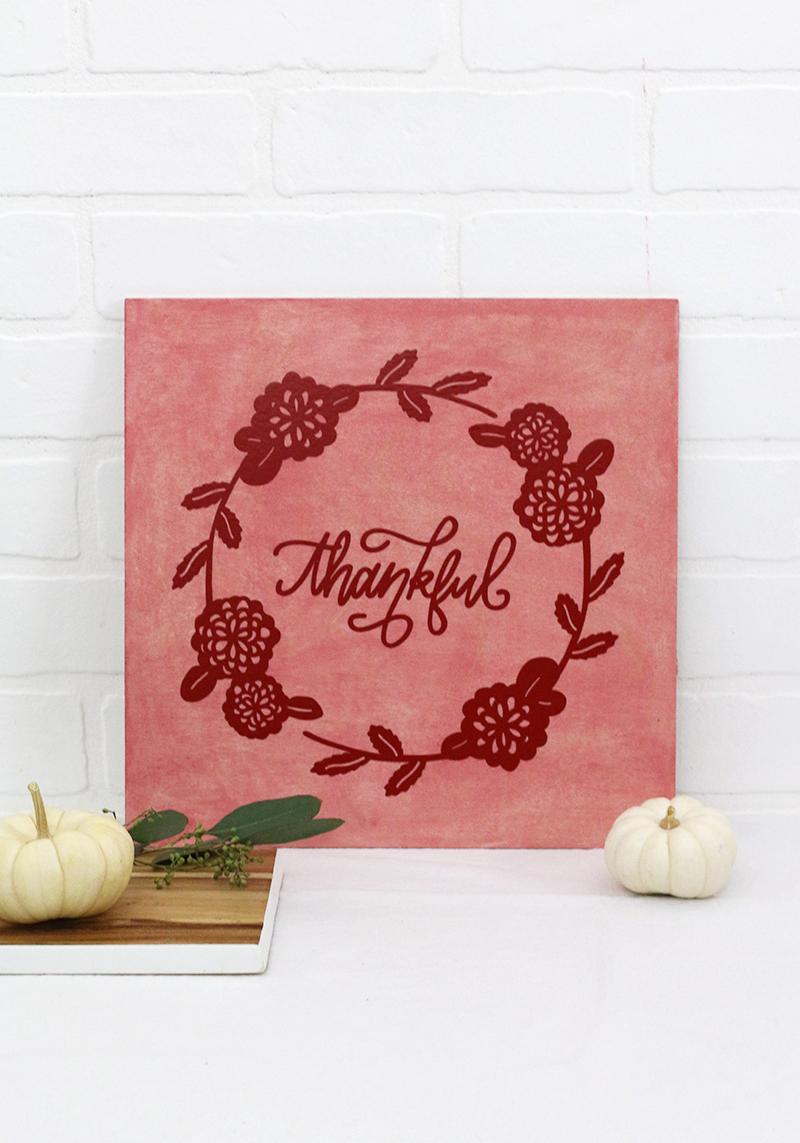 diy thankful sign - fall home decor - svg cut file