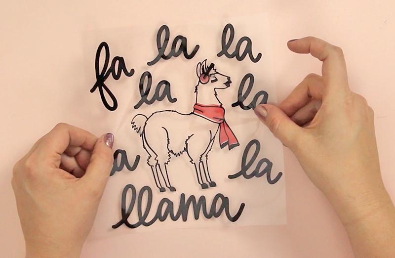 diy llama christmas sweater line up pieces