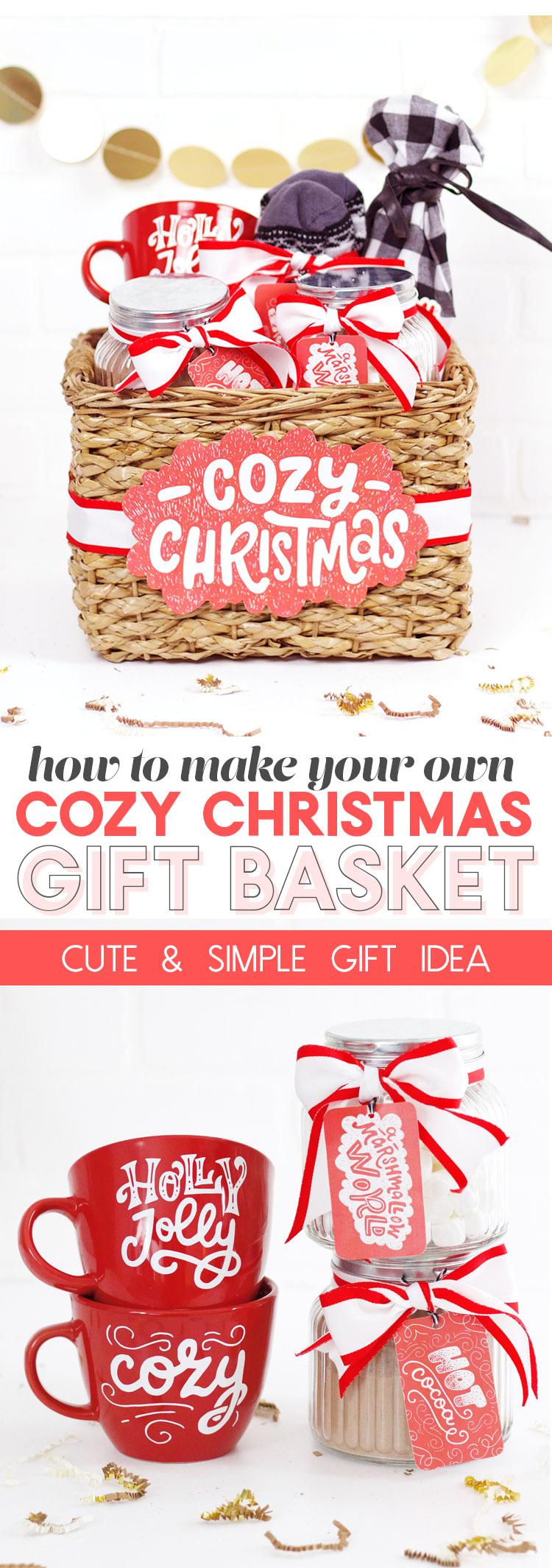 cozy christmas gift basket idea