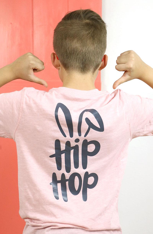 boys easter shirt - diy hip hop bunny t shirt back