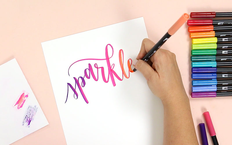how to blend tombow markers