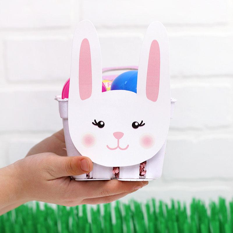 printable easter bunny treat basket diy