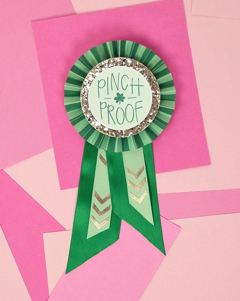 pinch proof ribbon - diy paper award ribbon
