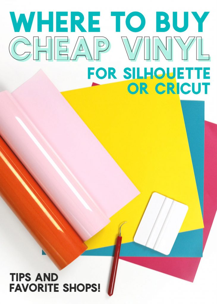 where to buy cheap vinyl and craft vinyl supplies for silhouette or cricut