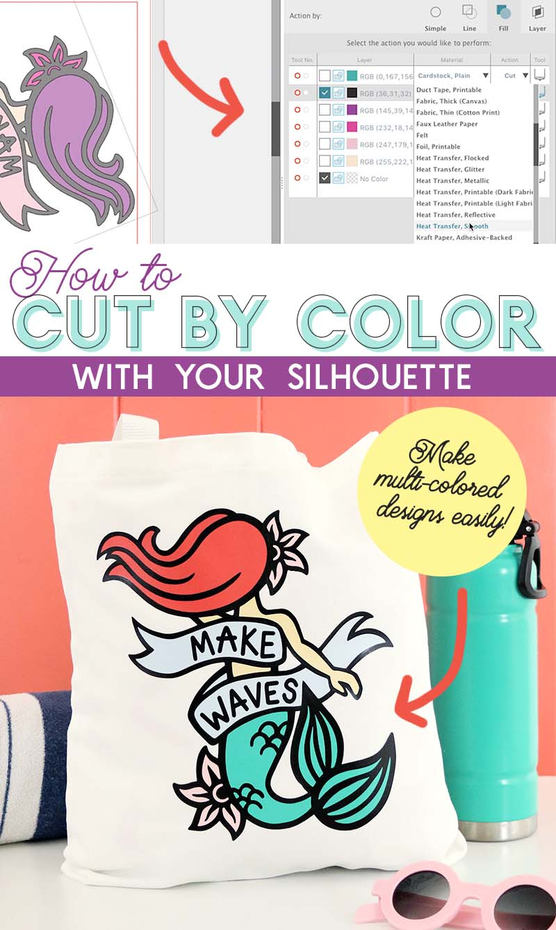 how to cut by color with silhouette