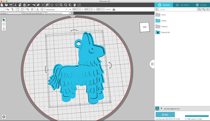 import image into silhouette 3d software