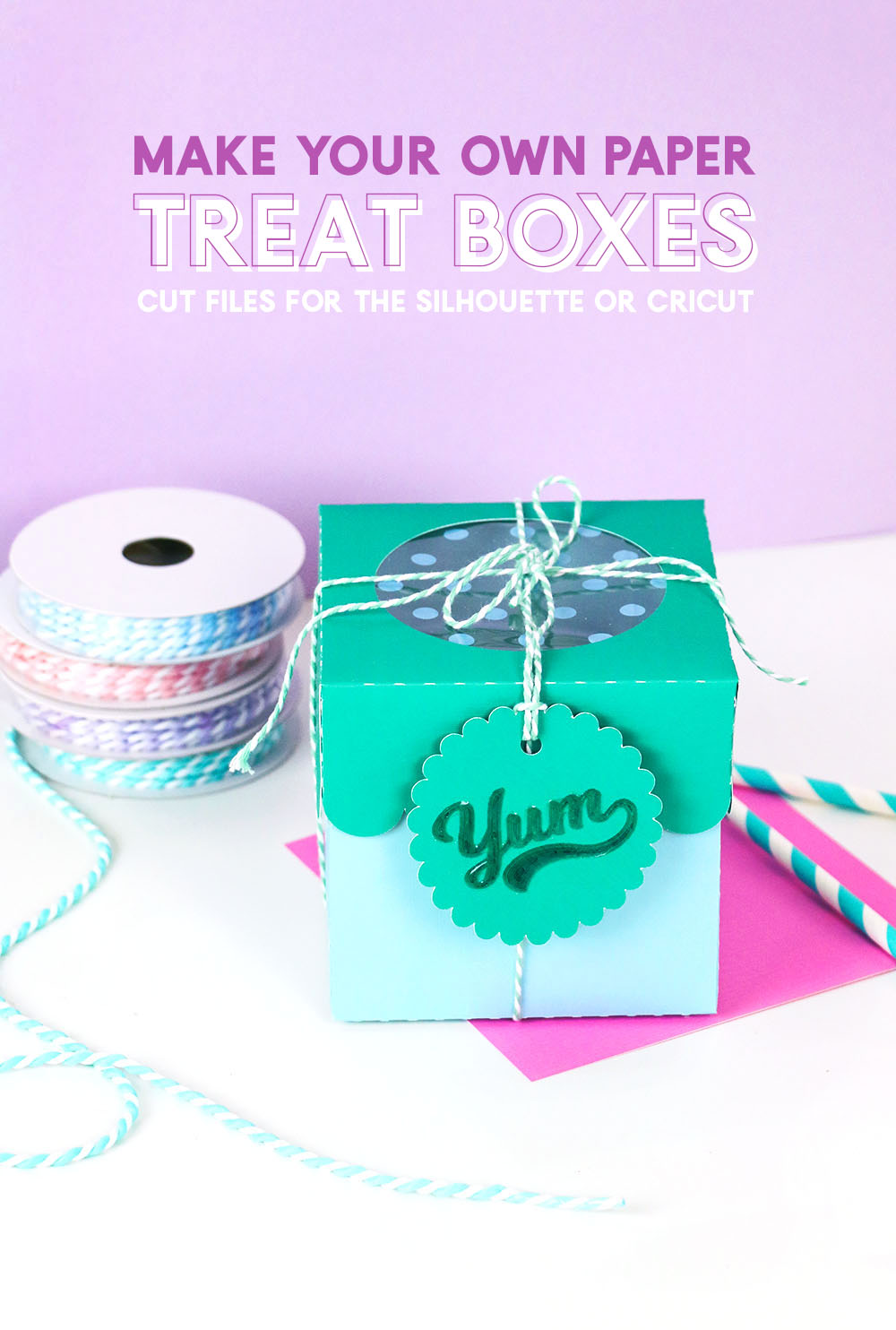 how to make your own adorable paper treat boxes with your silhouette or cricut - cupcake box svg cut file
