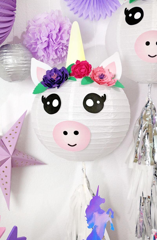 diy unicorn lantern unicorn party decorations