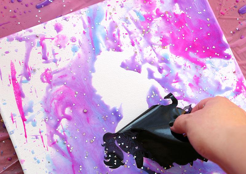 peel off vinyl unicorn goblies art
