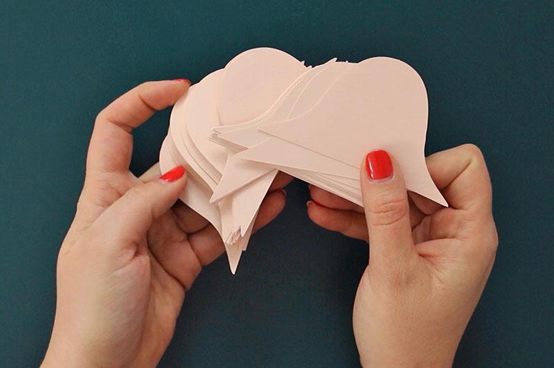 cut paper pieces for diy paper ornaments