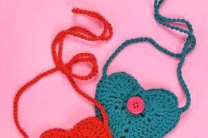 Crochet Heart Pouch Free Crochet Pattern