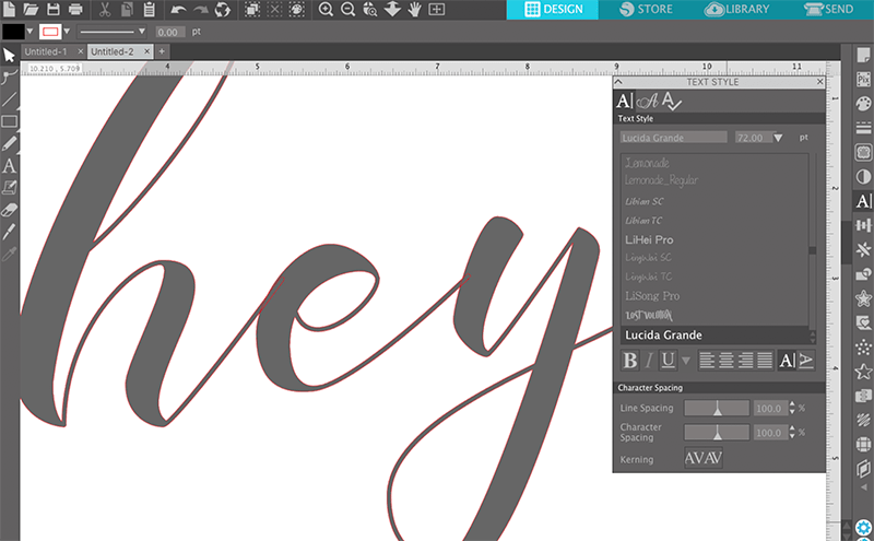 best script fonts for silhouette