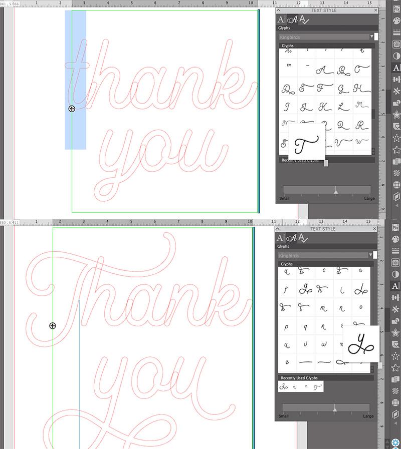 using glyphs in silhouette studio