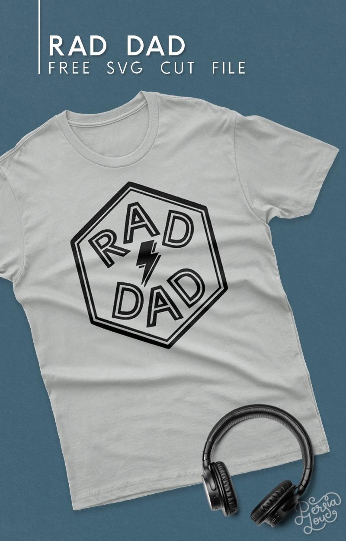 gray t shirt with rad dad svg cut file design