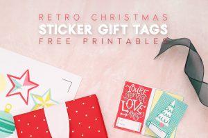 Retro Christmas Sticker Gift Tags – Free Printable