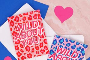 """""""Wild About You"""" Leopard Print Cards + More Free Valentine's Printables"""