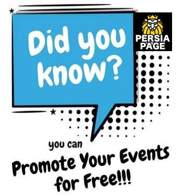 Persian Events Advertise