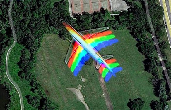 What Airplanes Look Like to Google Map Satellite Cameras