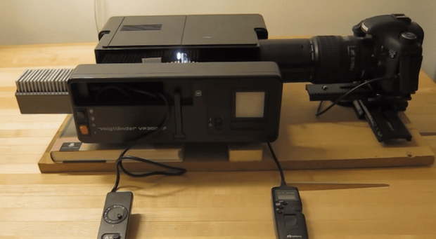 Neat Diy Projector Rig Lets You Digitize 15 Slides Per