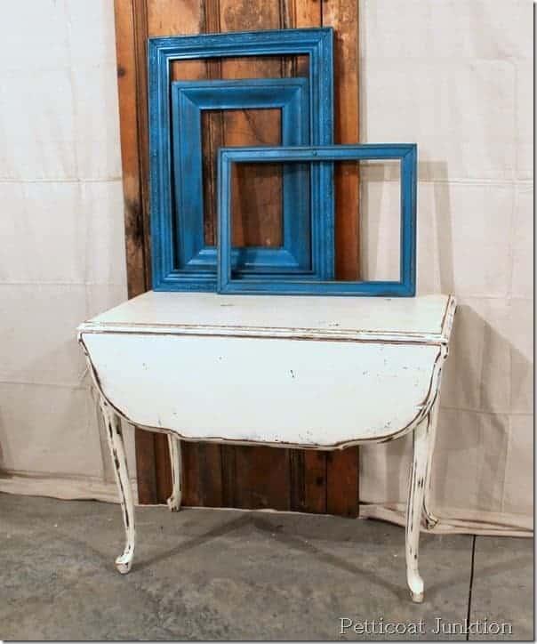 White Chalk Paint Table Is A Nashville Flea Market Find