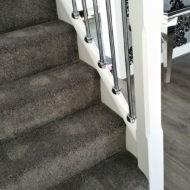 Work Gallery Pg Carpets Liverpool   Dark Grey Carpet Stairs   Fitted   Black   Grey Vinyl Flooring   Dark Brown   Floor